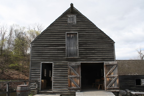 This building reproduces the original gristmill building.