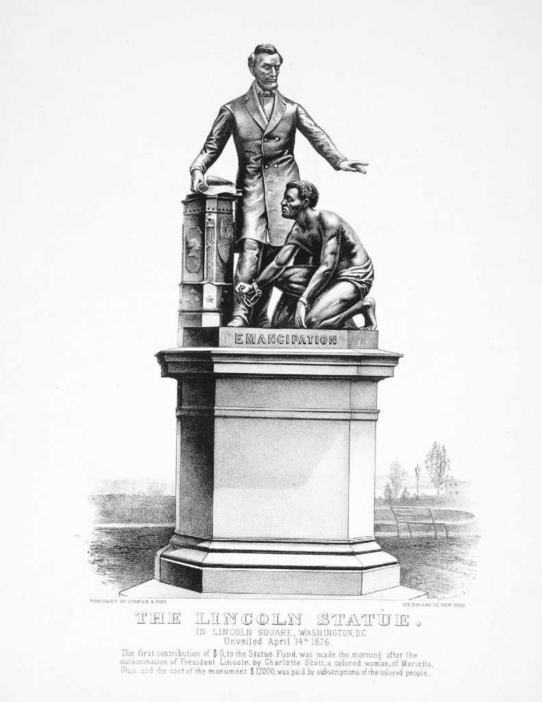 Freedom's Memorial, Washington DC, United States lithograph, Currier & Yves, circa 1876.